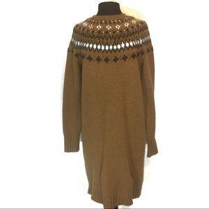 J. Crew Embellished Sweater Dress